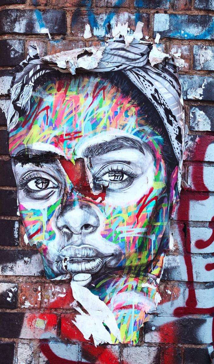 Street Art - Portrait femme